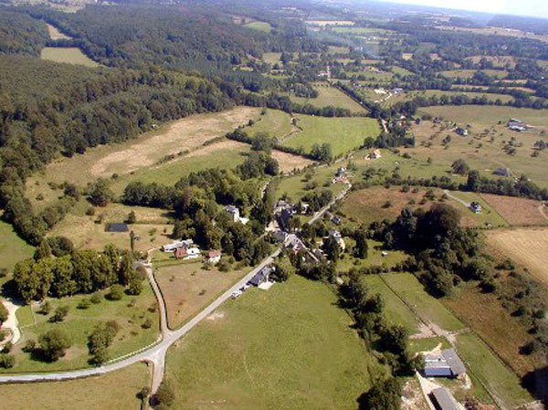 photo aerienne du mont criquet